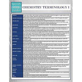 Chemistry Terminology I Speedy Study Guides by Publishing LLC & Speedy