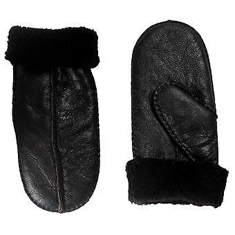 Nordvek Ladies 100% Genuine Sheepskin Mittens Thick Fur Split Palm Style 315-100