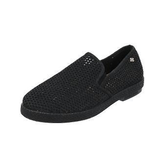 RIVIERAS 30°Noir Women's Men's Loafer Black Slip-Ons Business Shoes
