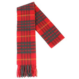 Locharron of Scotland Cameron Modern Lambswool Scarf - Red/Green