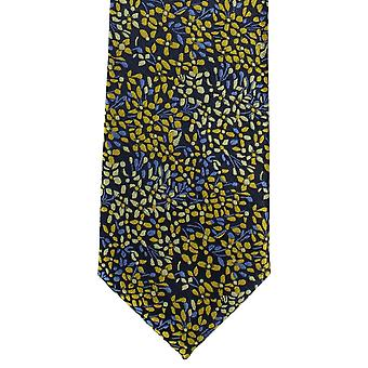 Michelsons Londres Ditsy polyester Floral cravate - jaune/bleu