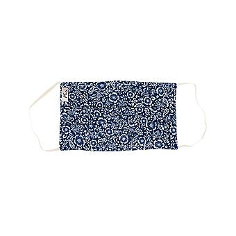 Mio HB5 Navy Floral Cotton Face Mask with Removable Nose Wire