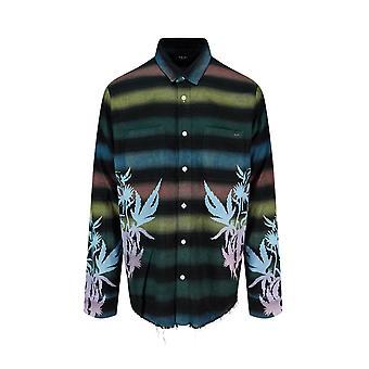 Amiri Y0m06374pdmul Mænd's Multicolor Bomuldsskjorte