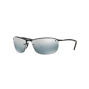Ray-Ban RB3542 002/5L Shiny Black/Polarised Blue-Silver Mirror Sunglasses