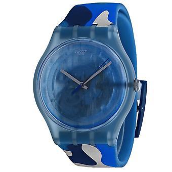 Swatch Men's Skelett blau Zifferblatt Uhr - SUOZ215