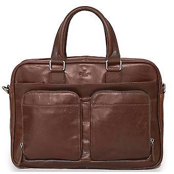 S. Babila genuino italiano granulado portátil maletín