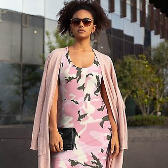 Slim Fit Dress | Pink Camouflage