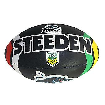 Steeden NRL Penrith Panthers Supporter 2020 Rugby League Ball Black/White