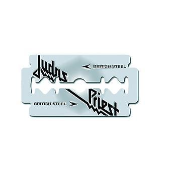 Judas Priest British Steel Razor Blade new Official Metal Pin badge