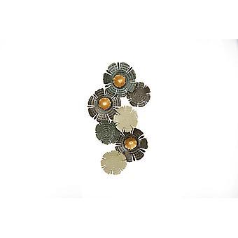 Decorazione Da Parete Imogen Multicolore in Metallo, L38,5xP66 cm
