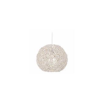 Lampada a Sospensione Tirol Color Bianco in Legno 35x35x90 cm