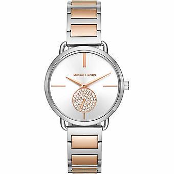 Michael Kors MK3709 Portia Silver Dial Two-tone Ladies Watch