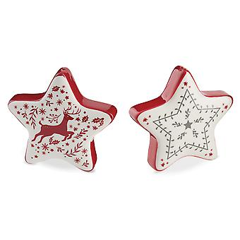 Cooksmart Winter Wonderland Salt and Pepper Shakers