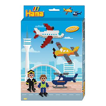 Airport & Plane Hama Bead Set - Boxed Gift