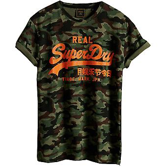 Superdry Mens Vintage Logo All Over Print Slim Fit T Shirt