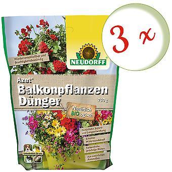 Sparset: 3 x NEWDORFF Azet® adubo vegetal da varanda, 750 g