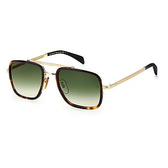 David Beckham DB7002/S 06J/9K Gold Havana/Green Shaded Sunglasses