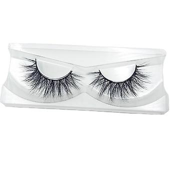 False Eyelashes 100% Mink Hair Fake Lashes - Dramtic Thick Long Extension