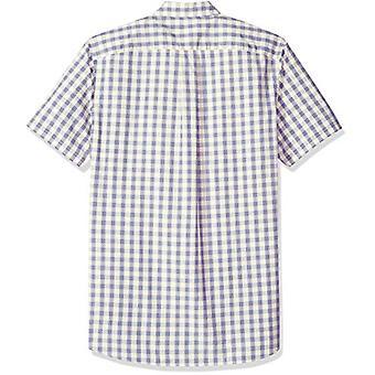 Goodthreads Men's Standard-Fit Short-Sleeve Plaid Poplin Shirt, -ivory check,...
