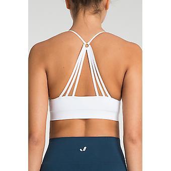 Jerf Womens Hudson  White Seamless Sports bra