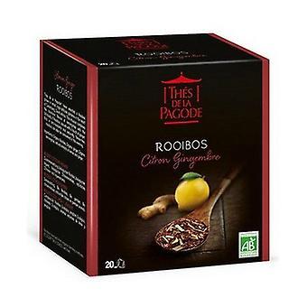 Sacchetti biologici di infusione Lemon-Ginger Rooibos 20
