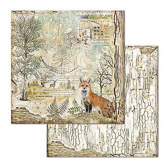 Stamperia Fox 12x12 Inch Paper Sheets (10pcs) (SBB656)