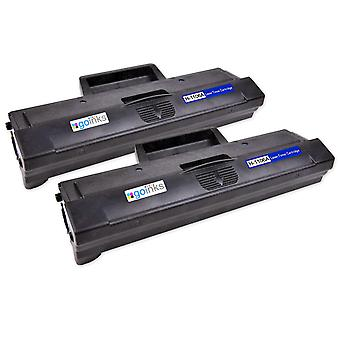 2 Go Inks Black Laser Toner Cartridges ersetzen HP W1106A (106A) Kompatibel/Nicht-OEM für HP Laserjet Pro Drucker