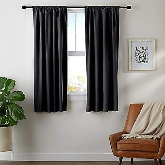Solid Color Blackout Short Curtains For Bedroom Kitchen Living Room Window Treatments
