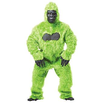 Gorilla Green Goin' Ape King Kong Animal Deluxe Mascot Mens Costume One Size