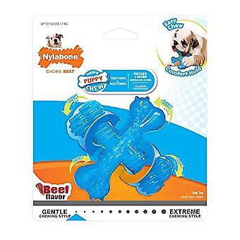 Nylabone rundvlees gearomatiseerd Faux X bot Puppy Chew Toy