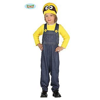 Kaivostyöläisten kaivostyöläisten keltainen elokuva puku lapsille