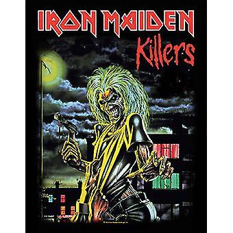 Iron Maiden tilbake Patch Killers bandets logo offisielle nye svart (36 cm x 29 cm)