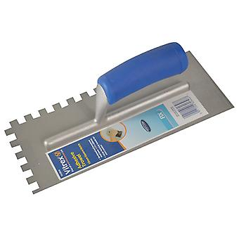 Vitrex Notched Adhesive Trowel Square 10mm Soft Grip Handle 11x4.1/2