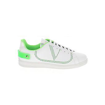 Valentino Garavani Uy2s0c04wxsfm6 Men's Wit/groene leren sneakers