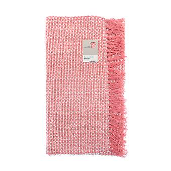 Country Club Woven Bamboo Rug, Pink