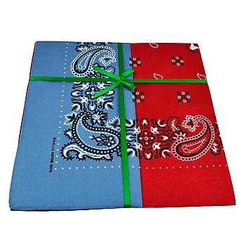 Ties Planet Red & Blue Paisley 2-pack Bandana Neckerchief