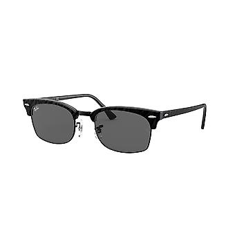 Ray-Ban Clubmaster Square RB3916 1305/B1 Top Wrinkled Black/Dark Grey Sunglasses
