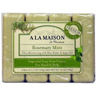 A La Maison Bar Soap Value Pack, Rosemary Mint 4 CT