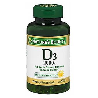 Nature's Bounty Vitamin D3, 2000 IU, 240 Softgels