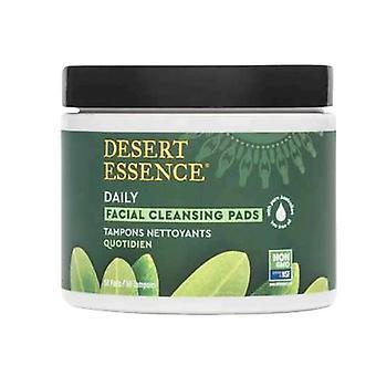 Desert Essence Tea Tree Oil Facial Cleansing Pads, 50 Pads