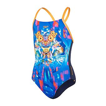 Speedo Girls Dreamscape Fusion Placement One Piece Swimsuit