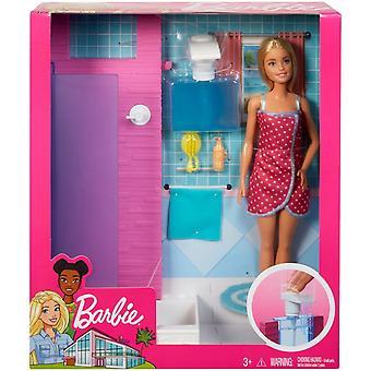 Barbie Doll & Furniture Shower Set