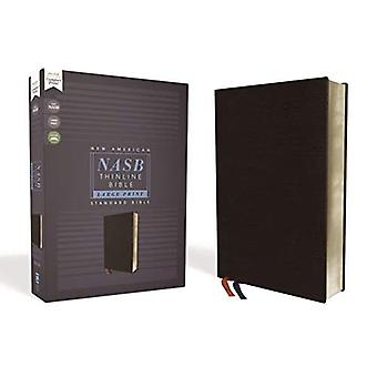 NASB, Thinline Bible, Large� Print, Bonded Leather, Black, Red Letter Edition, 1995 Text, Comfort Print