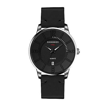 CHRONOS Casual Style Date Display Men Wrist Watch Colorful Leather Strap Quartz