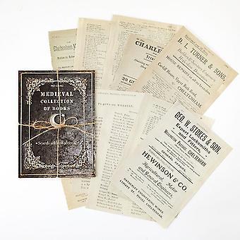 Projeta a antiga carta de registro medieval scrapbooking/fabricação de cartões
