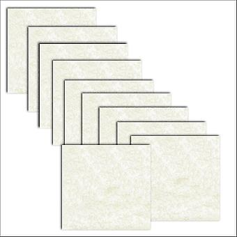 10 Ivory (Cotton White) Applique Square Card Inserts 140 x 140