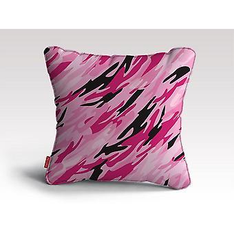 Różowa poduszka/poduszka z moro