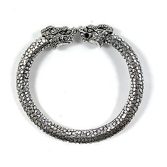 Antique Norse Bracelet With Lion Heads