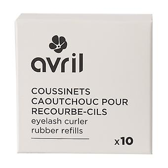 Rubber pads for eyelash curler x10 10 units