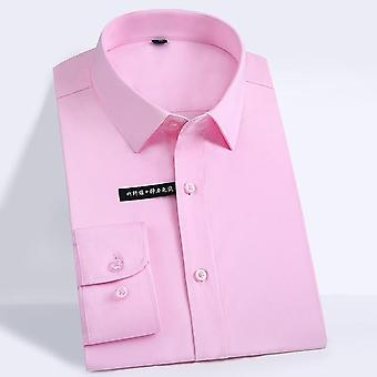 Men's Regular-fit Long Sleeve Stretch Formal Business Office/working Shirts